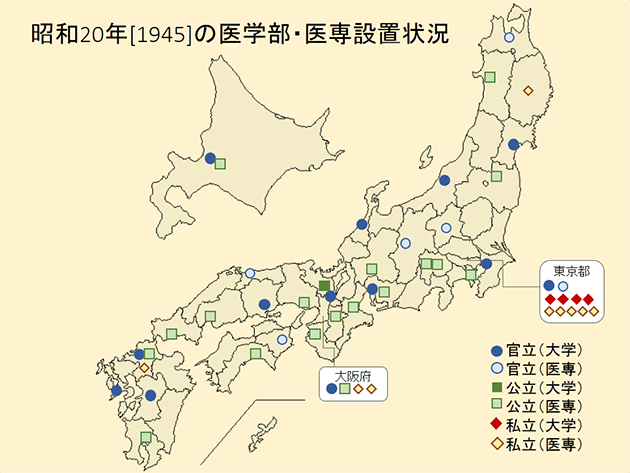 昭和戦時期 :: プロローグ「医学部誕生の時空見取り図」 – 東大・京大 ...